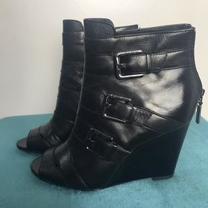 Nine West Peep Tor Wedge Boots